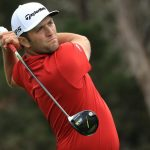 Jon Rahm tees off during the WGC-Dell Technologies Match Play.