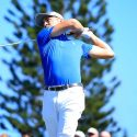 Justin Thomas tees off during the final round of the Sentry Tournament of Champions.