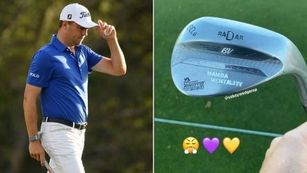 Justin Thomas posted a photo of his Kobe Bryant-inspired wedge stamp on Tuesday