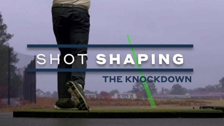 How to hit a knockdown shot