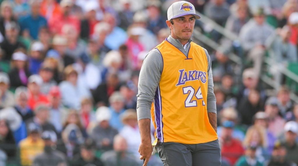 Max Homa wears a Kobe Bryant jersey at the Waste Management Phoenix Open.