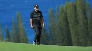 Patrick Reed walks down the fairway at the Sentry Tournament of Champions.