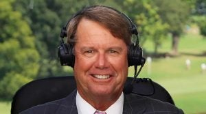 Paul Azinger in the booth for NBC Sports.