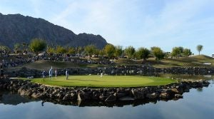 A view of the 17th hole at PGA West's Stadium Course.