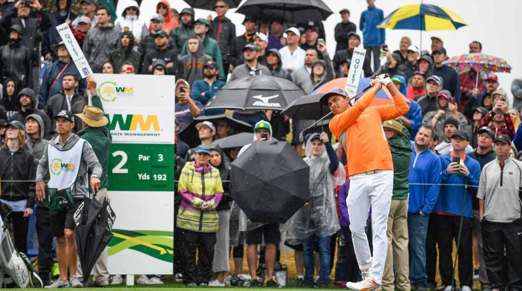Rickie Fowler won the 2019 Waste Management Phoenix Open by two shots.