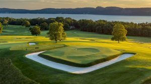 A view of the 16th at Sleepy Hollow Country Club in New York.