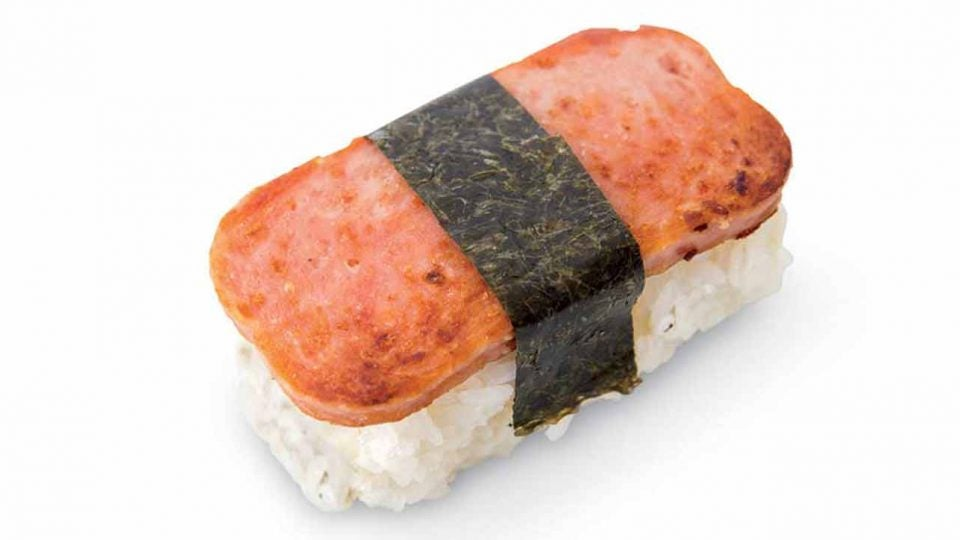 A perfect Spam musubi puts the hot dog to shame.