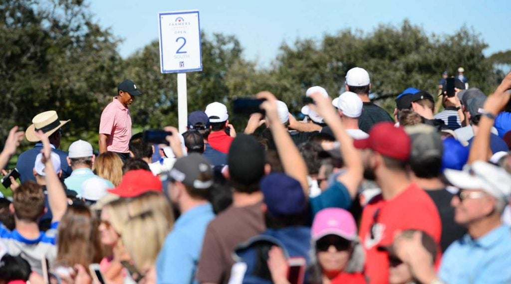 Tiger Woods pictured during the 2019 Farmers Insurance Open.