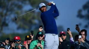 Tiger Woods pictured during the third round of the 2020 Farmers Insurance Open at Torrey Pines