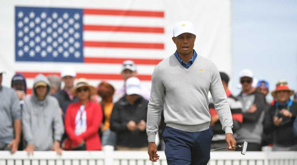 Tiger Woods pictured during the 2019 Presidents Cup in December.