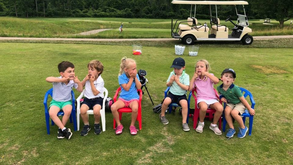 Seeing that your child is having fun while learning to golf is a key part of whether they'll stick with the game.