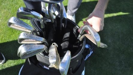 Alex Rodriguez's golf clubs are a sight to behold.