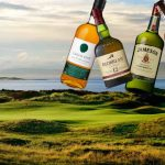 irish whiskey on a golf course