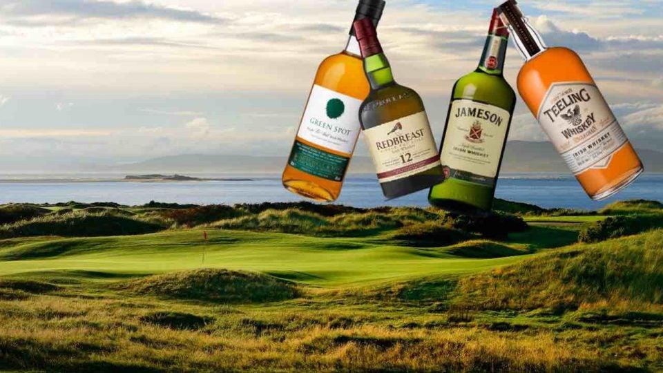 irish whiskey on a golf course