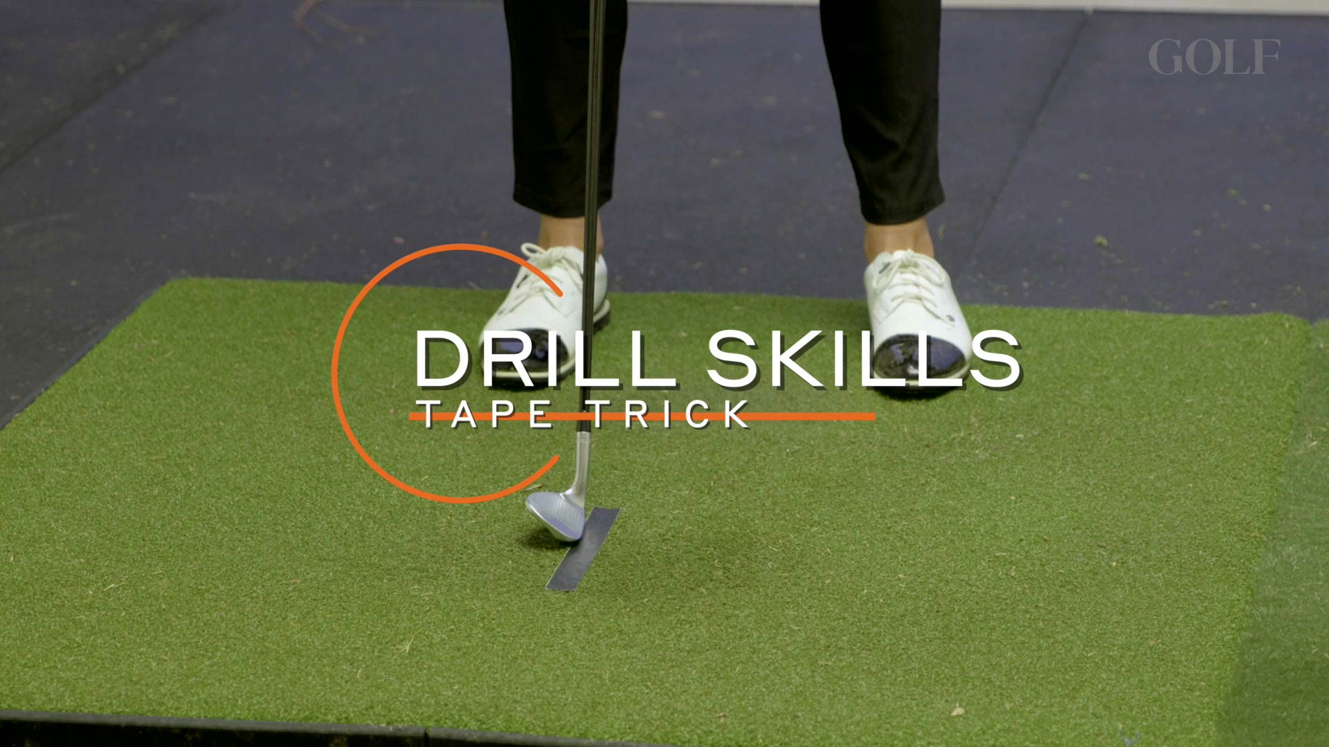 Drill Skills: Tape Trick to improve the low point of your swing