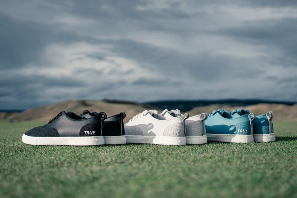ECO Knit shoes are launching in Obsidian, Calm Grey, and Tropic Blue.
