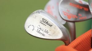 The wedge that started the stamping craze on the PGA Tour.