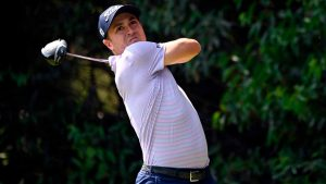 Justin Thomas hits a shot during the final round of the WGC Mexico Championship.