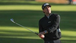 Bubba Watson hits a shot during Thursday's first round of the Genesis Invitational.