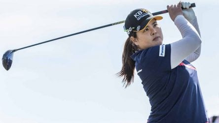 Inbee Park hits a tee shot during Sunday's final round of the Women's Australian Open.