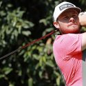 Tyrrell Hatton hits a tee shot during the second round of the World Golf Championships Mexico Championship.