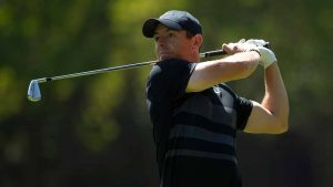 Rory McIlroy hits a shot during the first round of the Mexico Championships.