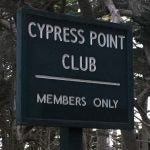 A picture of the sign outside Cypress Point Club