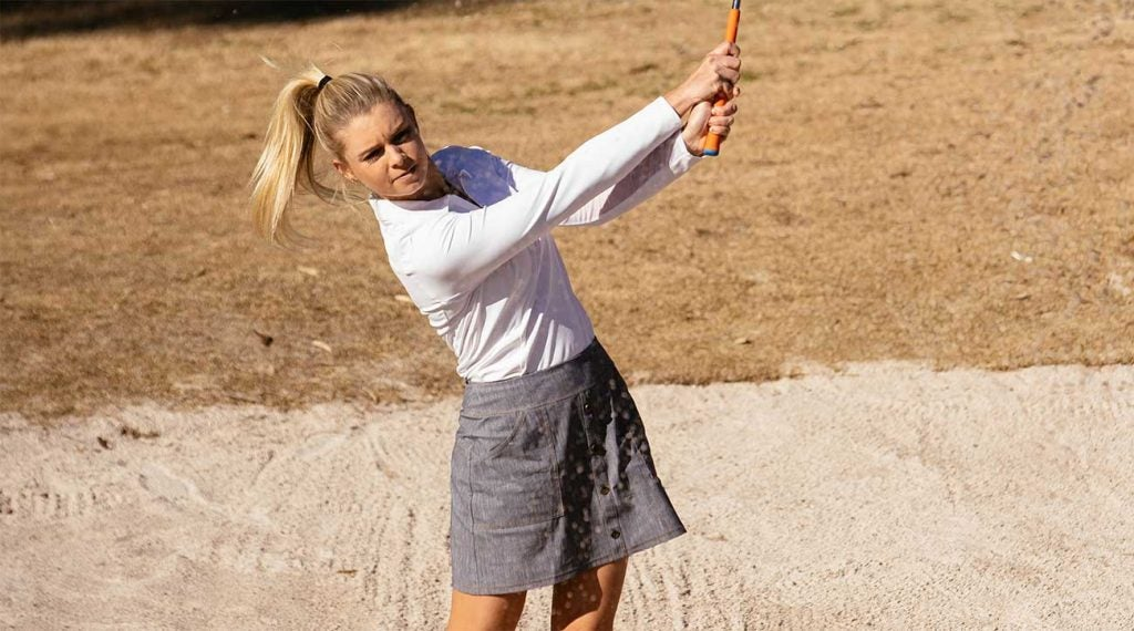 Finally, a golf skirt that can go from the course to a night out with a quick shoe change!