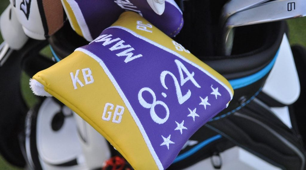 Jon Rahm's headcover has Bryant's jersey numbers and the initials of the people who perished in the helicopter crash.