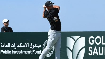 Brooks Koepka took Callaway's Mavrik driver for a spin in Saudi Arabia.