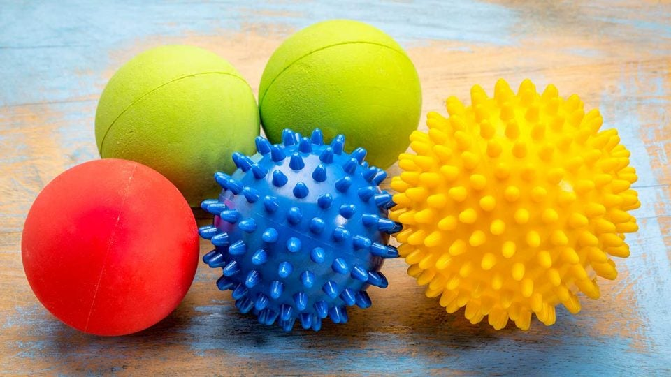 There are a variety of lacrosse balls you can use to roll out your muscles.