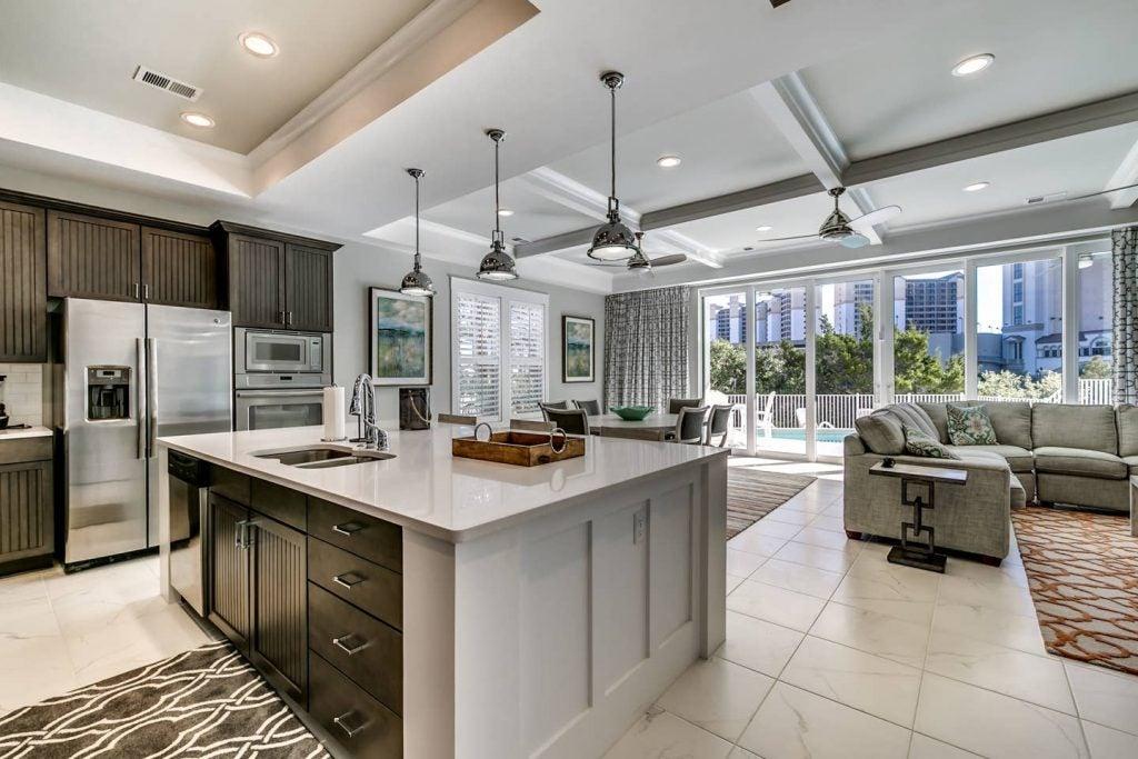 Interior kitchen of a North Myrtle Beach Plantation property.