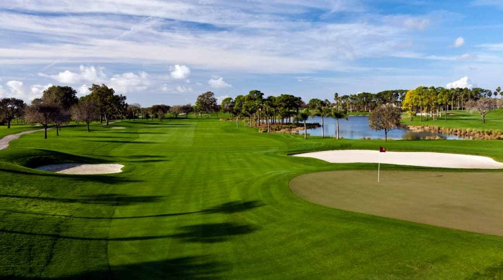 A view of the 9th green at PGA National's Champion course.