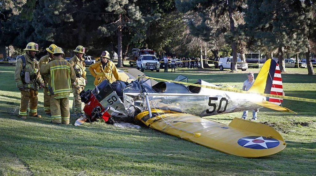 In 2015, Harrison Ford crash-landed his plane on the 8th hole at Penmar Golf Course.