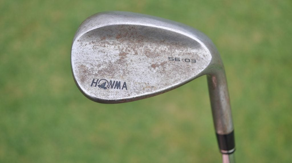 A 56-degree Honma wedge is the latest addition to Rose's bag.