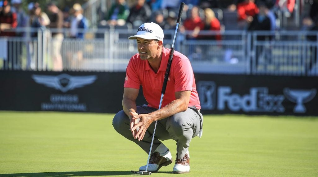 Adam Scott's putter of choice is a Xperimental prototype — but it's not the only one he practices with each week.