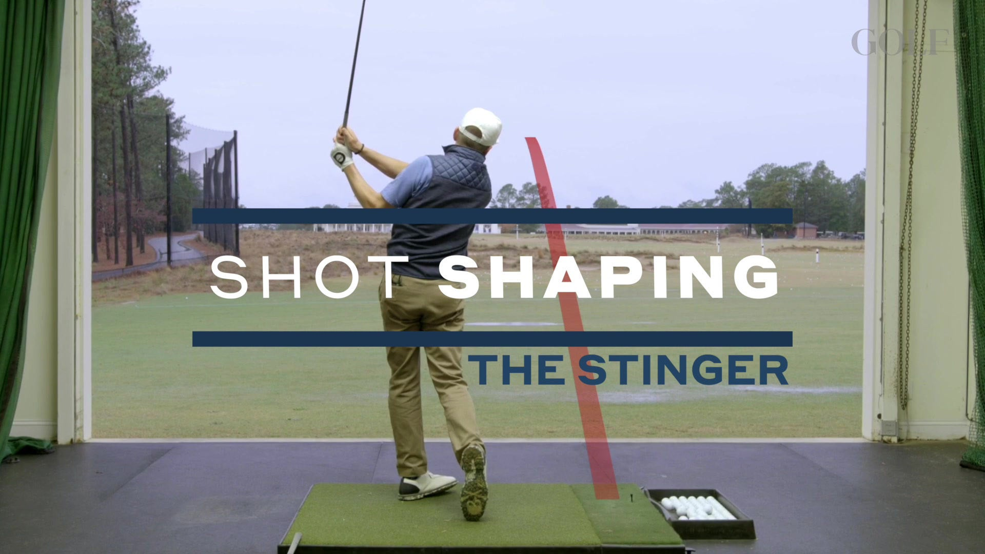 Shot Shaping: The Stinger to keep the ball low or hit into the wind