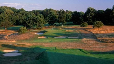 The par-3 2nd hole at Somerset Hills CC