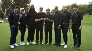 Tiger Woods captained his celebrity squad to the win on Monday at the Genesis Invitational.