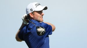 Webb Simpson with his Titleist driver.