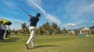 Amateur golfers average over 80 yards less off the tee than pros.