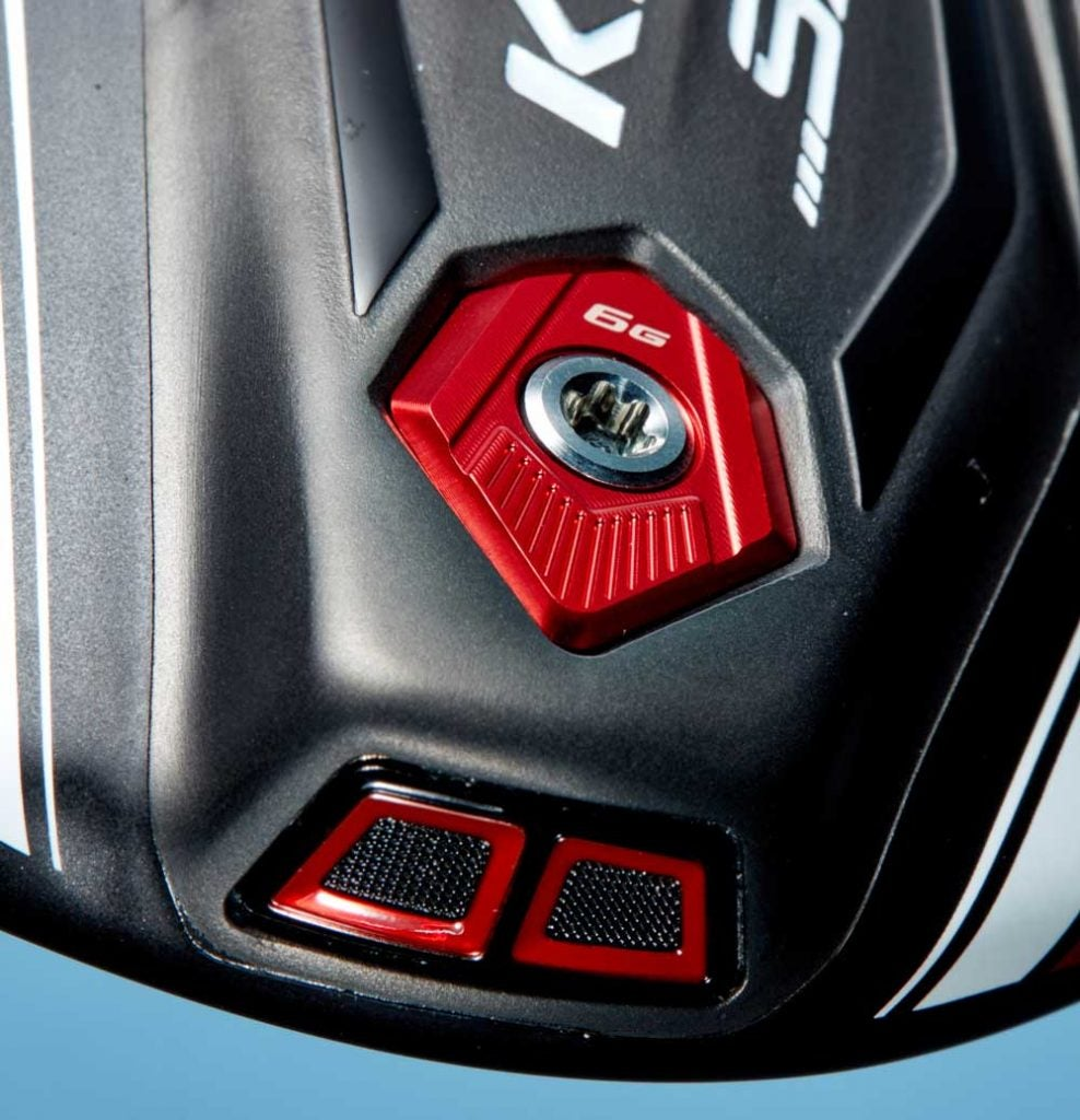 A closer look at the exhaust area on the Cobra King SpeedZone driver.