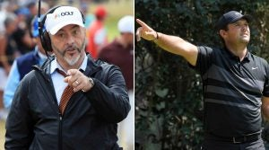 David Feherty at 2018 Open; Patrick Reed on tee at WGC-Mexico