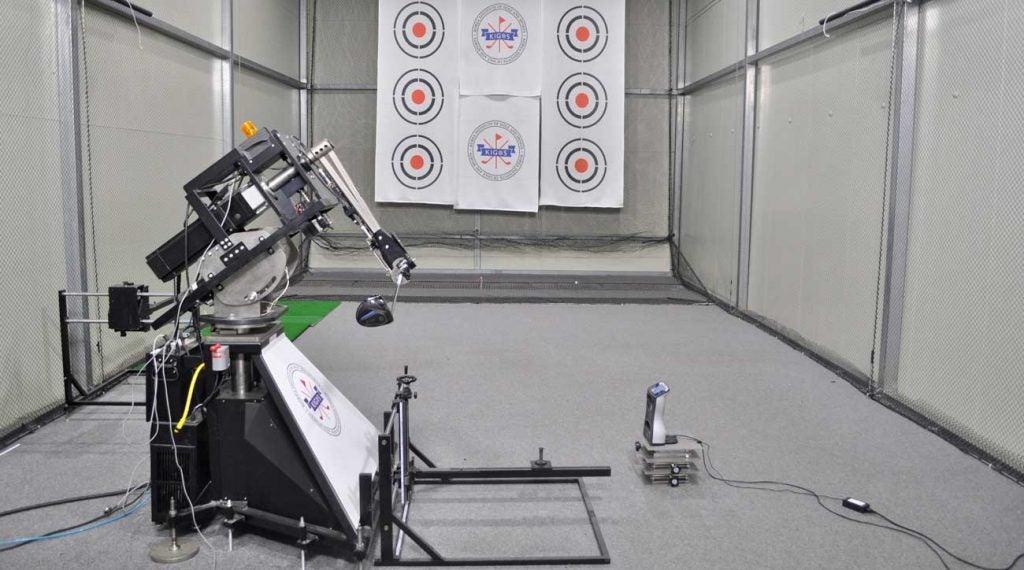 Gene Parente's Swing Laboratories robot inside KIGOS's multimillion-dollar facility.