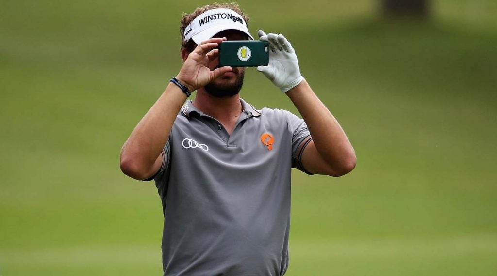 Don't get too consumed with your cell phone on the course.