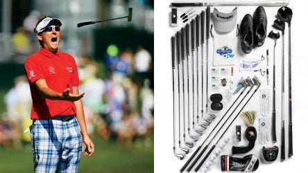 Take a look at everything single item Ian Poulter keeps in his golf bag
