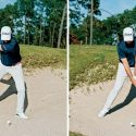 Use a tee to train yourself to hit a low point in the bunker.