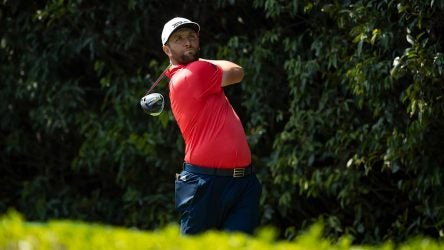Jon Rahm tees off during the final round of the WGC-Mexico Championship on Sunday in Mexico City.