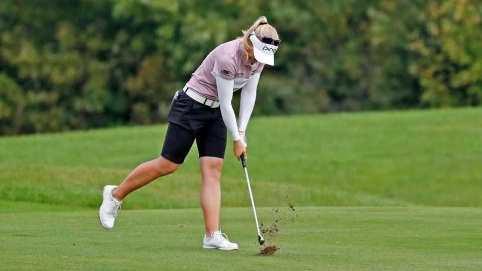 Having no thoughts on the course is the most beneficial to your game.
