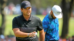 Patrick Reed made three straight birdies late to jump ahead of Bryson DeChambeau.
